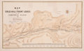 Western Expansion:Goldrush, Comstock Range Gold Map: A Scarce 1864-Dated Map....