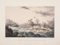 Antiques:Posters & Prints, Extremely Handsome and Rare Matched Prints of California NavalRescue. ... (Total: 2 Items)