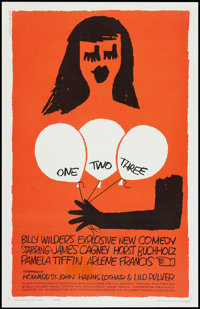 "One, Two, Three (United Artists, 1962). One Sheet (27"" X 41""). Comedy"