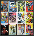 Non-Sport Cards:Sets, 1966 Topps Batman Near & Partial Sets (5). ...