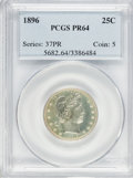 Proof Barber Quarters, 1896 25C PR64 PCGS....