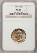 Washington Quarters, 1961-D 25C MS67 NGC....