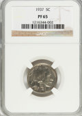 Proof Buffalo Nickels, 1937 5C PR65 NGC. NGC Census: (375/817). PCGS Population(614/1114). Mintage: 5,769. Numismedia Wsl. Price for problemfree...