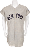 Baseball Collectibles:Uniforms, 1966-69 Bobby Murcer Game Worn New York Yankees Rookie Jersey....