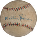 Autographs:Baseballs, 1920's Walter Johnson & Clark Griffith Signed Baseball....