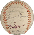 Autographs:Baseballs, 1971 New York Yankees Team Signed Baseball....