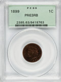 Proof Indian Cents: , 1899 1C PR63 Red and Brown PCGS. PCGS Population (25/169). NGCCensus: (10/128). Mintage: 2,031. Numismedia Wsl. Price for ...