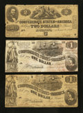 Confederate Notes:1862 Issues, T42 and T44 Notes.. ... (Total: 3 notes)
