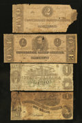 Confederate Notes:1862 Issues, Confederate and State of Alabama Notes Fair or Better.. ... (Total:4 notes)