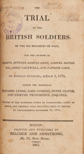 Books:First Editions, [Boston Massacre]. The Trial of the British Soldiers, of the29th Regiment of Foot,...