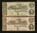 Confederate Notes:1862 Issues, T53 $5 1862.. ... (Total: 2 notes)