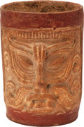 Antiques:Antiquities, Molded Vessel with Two Deity Faces...