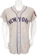 Baseball Collectibles:Uniforms, 1962 Charlie Neal Game Worn Jersey, New York Mets InauguralSeason....
