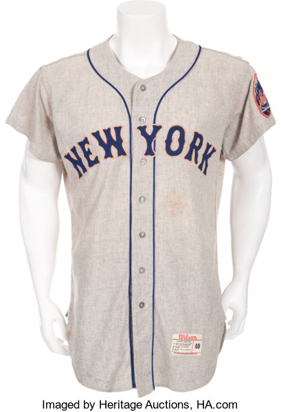 87068262 1962 Charlie Neal Game Worn Jersey, New York Mets Inaugural | Lot ...