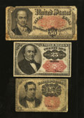 Fractional Currency:Fifth Issue, Fifth Issue Denomination Set.. ... (Total: 3 notes)