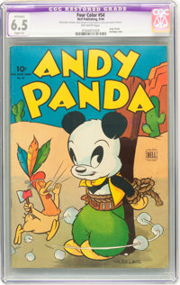 Four Color #54 Andy Panda (Dell, 1944) CGC Apparent FN+ 6.5 Slight (A) Off-white pages