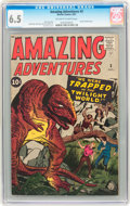 Silver Age (1956-1969):Horror, Amazing Adventures #3 (Marvel, 1961) CGC FN+ 6.5 Off-white to whitepages....