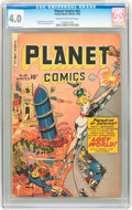 Golden Age (1938-1955):Science Fiction, Planet Comics #63 (Fiction House, 1949) CGC VG 4.0 Cream tooff-white pages....