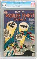 Golden Age (1938-1955):Superhero, World's Finest Comics #74 (DC, 1955) CGC FN+ 6.5 Cream to off-white pages....
