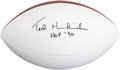 Football Collectibles:Balls, Ted Hendricks Signed Football....