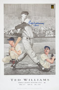 """Baseball Collectibles:Others, Ted Williams """"1942"""" Signed Lithograph...."""