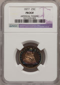 Proof Seated Quarters, 1877 25C --Artificial Toning--NGC Details. Proof. NGC Census:(2/107). PCGS Population (3/123). Mintage: 510. Numismedia Wsl...