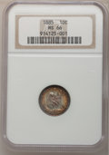 Seated Dimes, 1885 10C MS66 NGC....