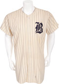 Baseball Collectibles:Uniforms, 1952 Buffalo Bisons Game Worn Jersey....