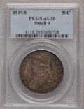 Bust Half Dollars: , 1819/8 50C Small 9 AU50 PCGS. PCGS Population (33/78). NGC Census:(24/154). Numismedia Wsl. Price for problem free NGC/PC...