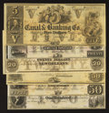 Obsoletes By State:Louisiana, New Orleans, LA - New Orleans Canal & Banking Co. $5; 20; $20; $50; $50;$100 G10; G34a; G36a; G44; G48a; G60a. ... (Total: 6 notes)