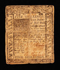 Colonial Notes:Delaware, Delaware January 1, 1776 5s Very Good-Fine.. ...