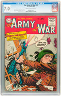 Golden Age (1938-1955):War, Our Army at War #35 (DC, 1955) CGC FN/VF 7.0 Cream to off-whitepages....