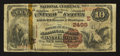 National Bank Notes:Maryland, Baltimore, MD - $10 1882 Brown Back Fr. 490 The Drovers &Mechanics NB Ch. # (E)2499. ...
