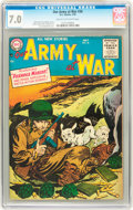 Golden Age (1938-1955):War, Our Army at War #36 (DC, 1955) CGC FN/VF 7.0 Cream to off-whitepages....