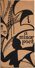Books:Signed Editions, E. Ralph Cheyney. I, a Minor Poet. New York: Self-published, 1923. Presentation copy of the first edition. Ins...