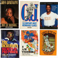 Football Collectibles:Publications, Football Hall of Fame Running Backs Signed Books Lot of 6....