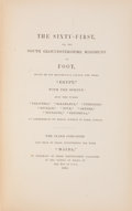 Books:First Editions, [British Regiments]. Historical Record of the Sixty-First, or,the South Gloucestershire Regiment of Foot. London: P...