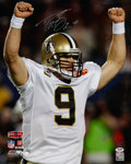 Football Collectibles:Photos, Drew Brees Signed Oversized Photograph....
