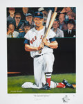 Baseball Collectibles:Others, Ted Williams Signed Lithograph....