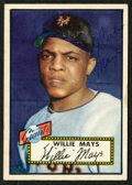 Baseball Cards:Autographs, 1952 Topps Willie Mays Signed Card....