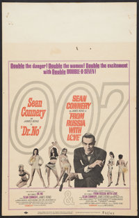 """Dr. No/From Russia with Love Combo (United Artists, R-1965). Window Card (14"""" X 22""""). James Bond"""