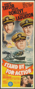"Movie Posters:War, Stand By For Action (MGM, 1943). Insert (14"" X 36""). War.. ..."