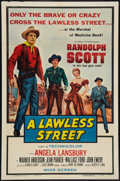 """Movie Posters:Western, A Lawless Street (Columbia, 1955). One Sheet (27"""" X 41""""). Western.. ..."""