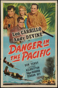 "Movie Posters:Adventure, Danger in the Pacific (Universal, 1942). One Sheet (27"" X 41"").Adventure.. ..."