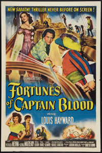 "Fortunes of Captain Blood (Columbia, 1950). One Sheet (27"" X 41""). Swashbuckler"