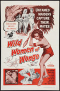 "Movie Posters:Fantasy, The Wild Women of Wongo (Tropical, 1958). One Sheet (27"" X 41"").Fantasy.. ..."