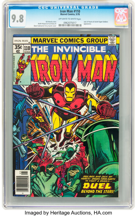 Iron Man #110 (Marvel, 1978) CGC NM/MT 9.8 Off-white to white pages....