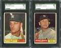 Baseball Cards:Lots, 1961 Topps Roger Maris and Mickey Mantle SGC Graded Cards Lot of2....