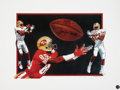 Football Collectibles:Others, Jerry Rice Signed Lithograph....