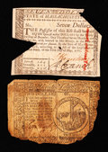 Colonial Notes:Continental Congress Issues, A Continental and a Massachusetts Note.. ... (Total: 2 notes)